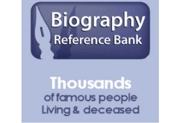 Biography Reference Bank Thousands of famous people living & deceased