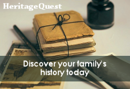 Heritage Quest Discover your family's history today